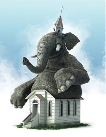 Giant Elephant in church